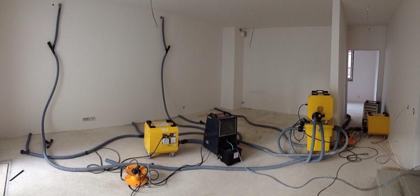 Vysoušení zdiva s tepelnou izolací po zatečení vody