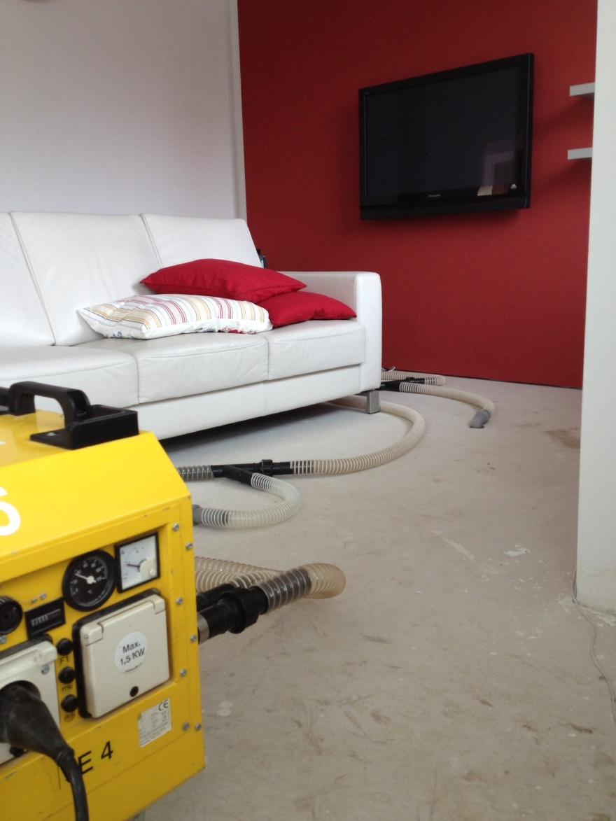 Vysoušení podlah s tepelnou izolací