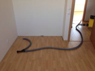 Vysoušení podlahy pod parkety