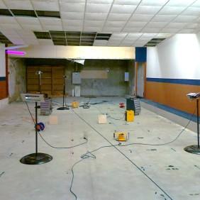 Vysoušení povrchů podlah s podporou infrazářičů